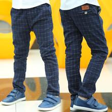 Sping/Autumn Britain Style Casual Kids Plaid Pants for Boys Trousers Baby Clothes New 2016 T2DTAE(China (Mainland))