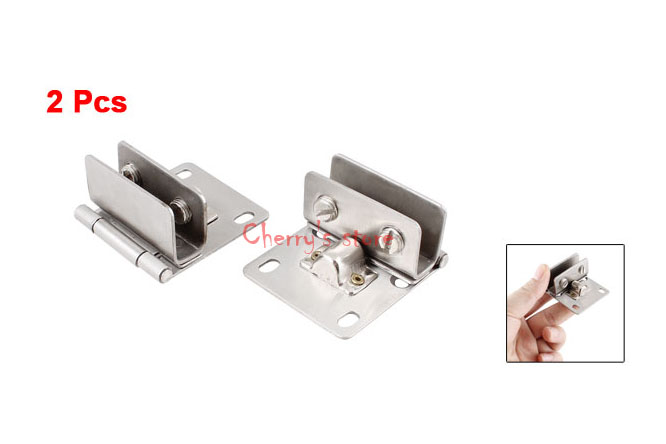Good Quality 2 Pcs Bathroom 10mm Thickness Glass Door Hinge Silver Tone Set(China (Mainland))