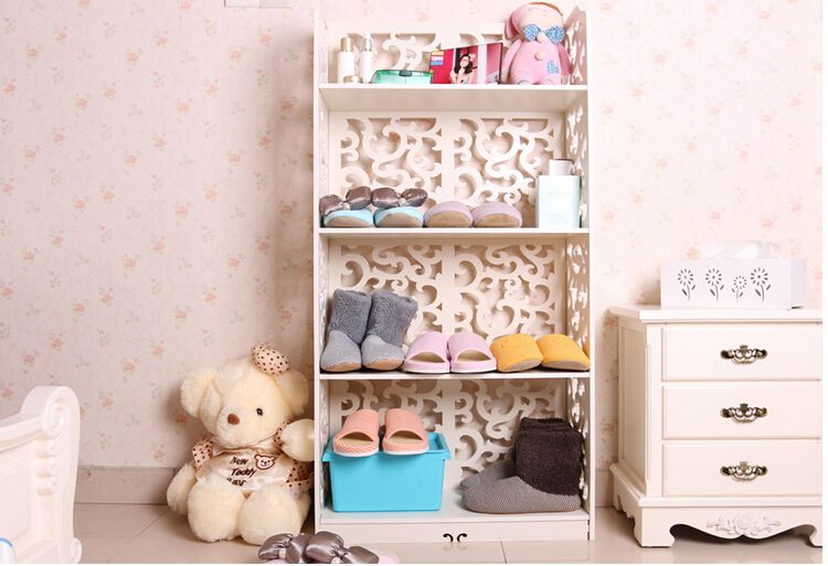 Free shipping north europe design carved plastic environmental waterproof fireproof mildewproof shoes rack cabinet hanger SR-03(China (Mainland))