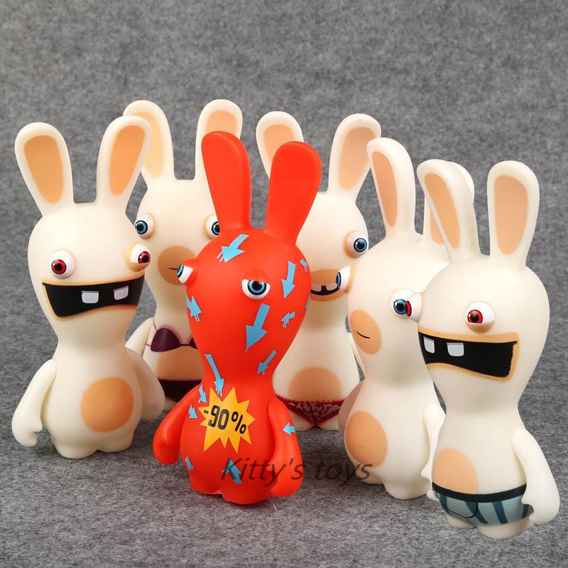"Rayman Raving Rabbids PVC Action Figures Collectible Model Toys Kids Toys Gifts 6"" 12cm 6pcs/set free shipping KB0240(China (Mainland))"