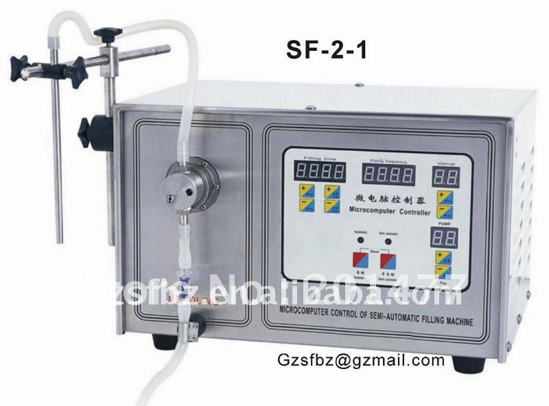 Semi-automatic bottle/pouch filling machine liquid