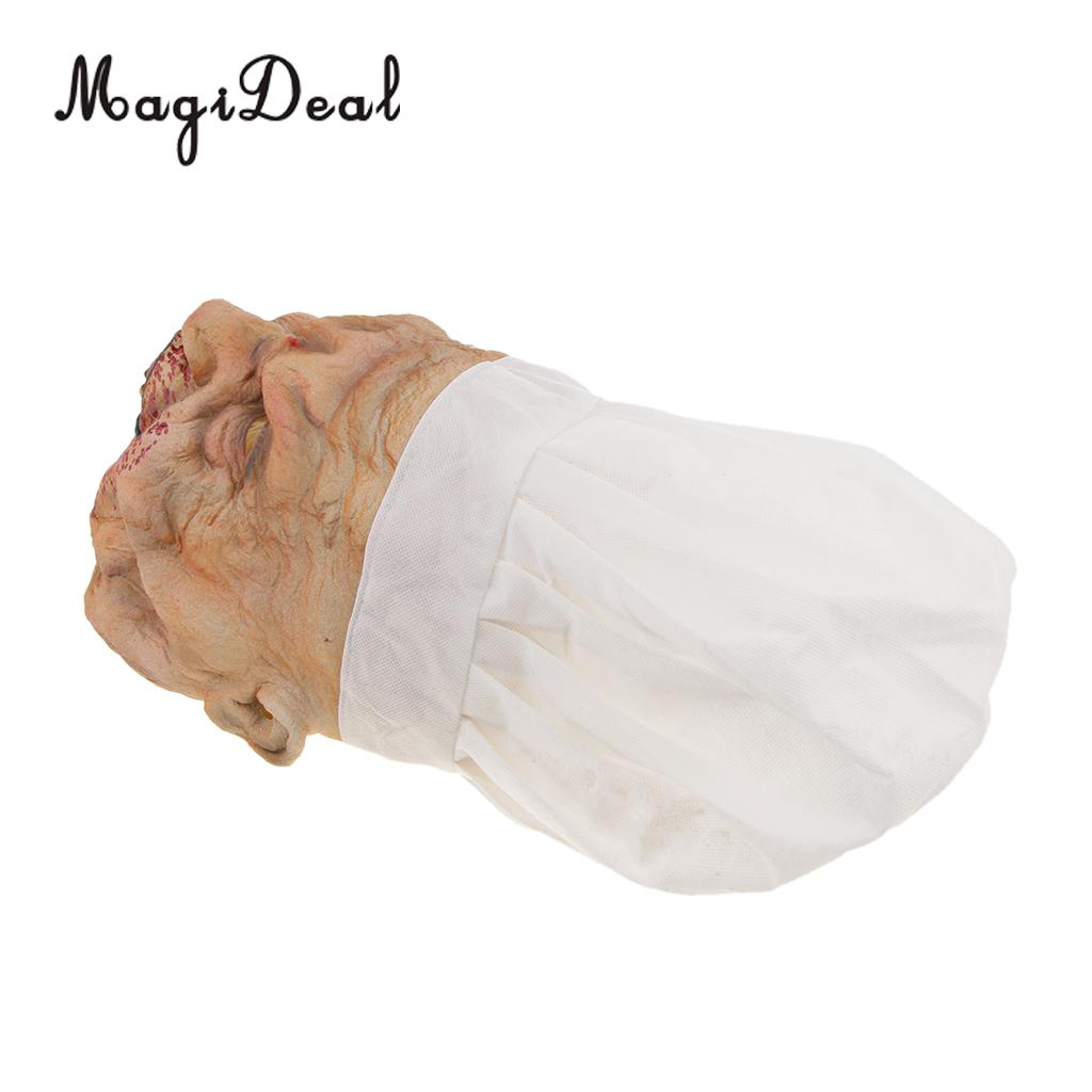 Halloween Masks Horrific Scary or Funny Latex Butcher Mask for Costume Party