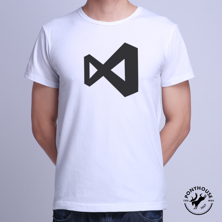 Гаджет  2015I AWQ ZT BLMS VISUAL STUDIO relaxed casual T-shirt short sleeve male programmer None Изготовление под заказ