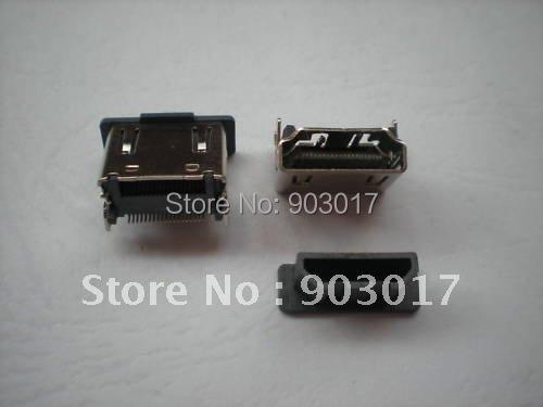 HDMI Female Jack 19pin Connector 180 Degree 1000 pcs per lot hot sale(China (Mainland))
