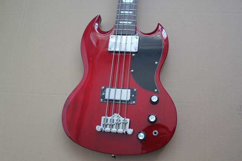 Newest Arrival SG 400 Custom 4 Strings red Bass Classic Electric Guitar Available Chinese Music Instruments! Left Handed Custom(China (Mainland))