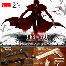 1:1 Scale Hellsing OVA-PM 454 Jackal + PM 454 Casull Pistol Of Vampire Alucardl Pistol Paper Model toys cosplay Weapons 2in1 set(China (Mainland))