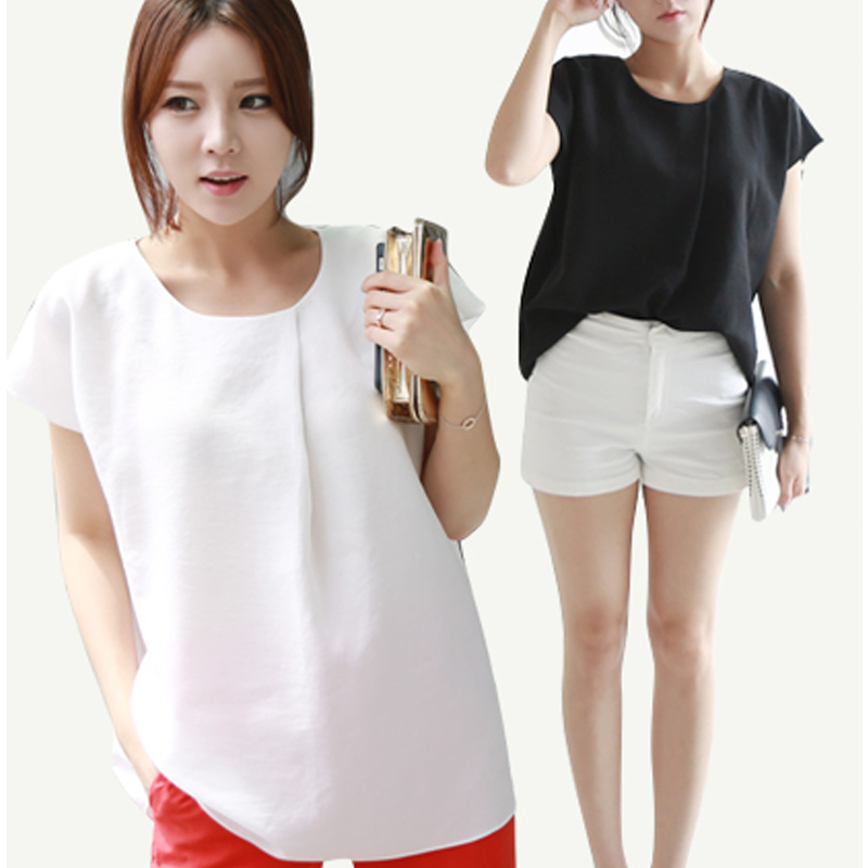 2015 New Fashion Women Blouse and Tops Chiffon Tanks Women's Shirt Female Fashion Clothing Feminine Blusas Camisas Korean Summer(China (Mainland))