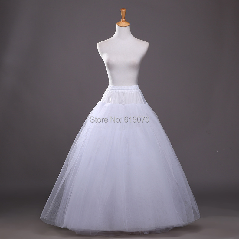 New arrival a line petticoat crinoline long tulle netting for Tulle petticoat for wedding dress