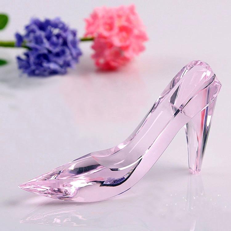 Best 15cm Cinderella Crystal shoes, surprising girlfriend birthday gift, valentine's day romantic confession, wedding columns(China (Mainland))