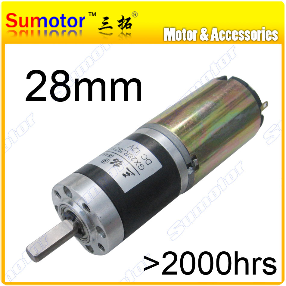 GX28 D=28mm 12V 24V high torque low speed Planetary gear motor DC brushed motor long life high quality Durable tubular motor(China (Mainland))