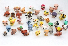 lps toy Anime pet shop pokemon Cute Cat Dog Elephant Lizard Animals pokemon kids toy 4