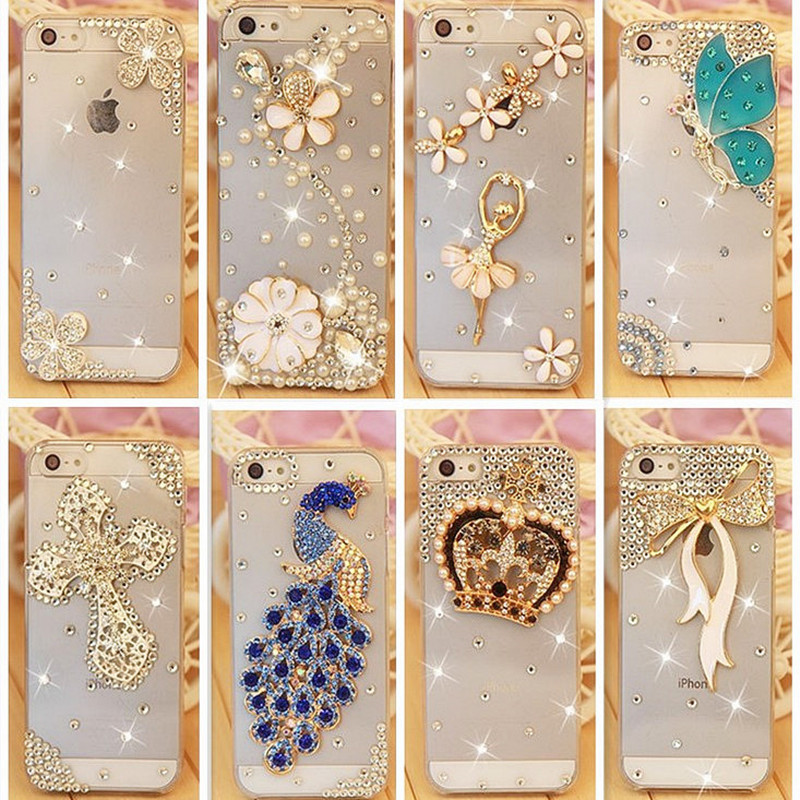 Rhinestonel Case Cover For Apple Iphone 5 5s Iphone 4 4s SE Cover ,Luxury Diamond Hard Back Cover Mobile phone Protective Case(China (Mainland))