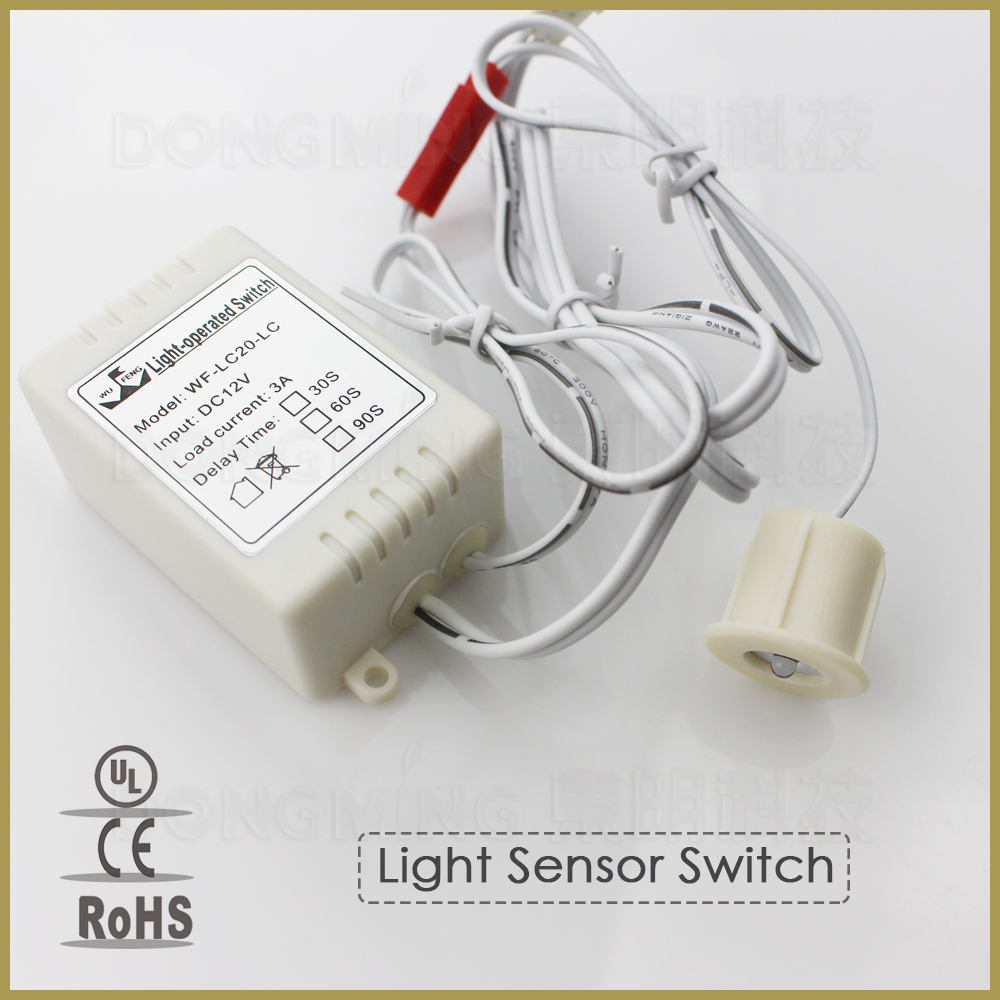6pcs/lot DC 12V 3A Light ray sensor induction switch module light control sensing detector for wall cabinet lights & lamps(China (Mainland))