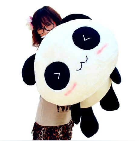 Free shipping High quality of 28 cm panda plush toys, lie prone to lie prone bear holiday gifts(China (Mainland))