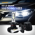 Auxmart H4 HB2 9003 50W Hi Lo beam LED Car Headlight Bulbs 6500K 8000LM Driving Headlight