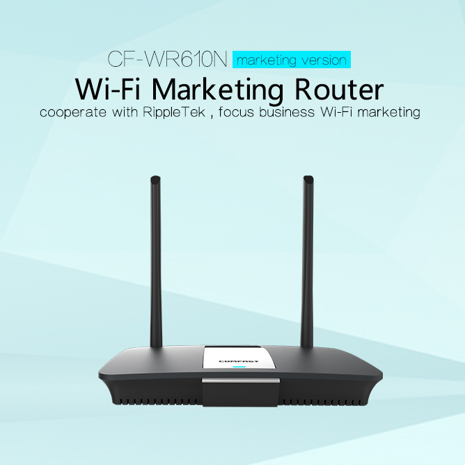 COMFAST CF-WR610N 2antenna wireless router hotel restaurant business marketing use wi-fi extender strong signal acces point wifi