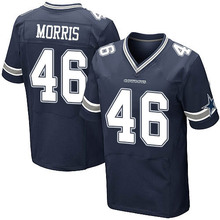Men's #46 Alfred Morris Elite Navy Blue Team Color Football Jersey 100% stitched(China (Mainland))