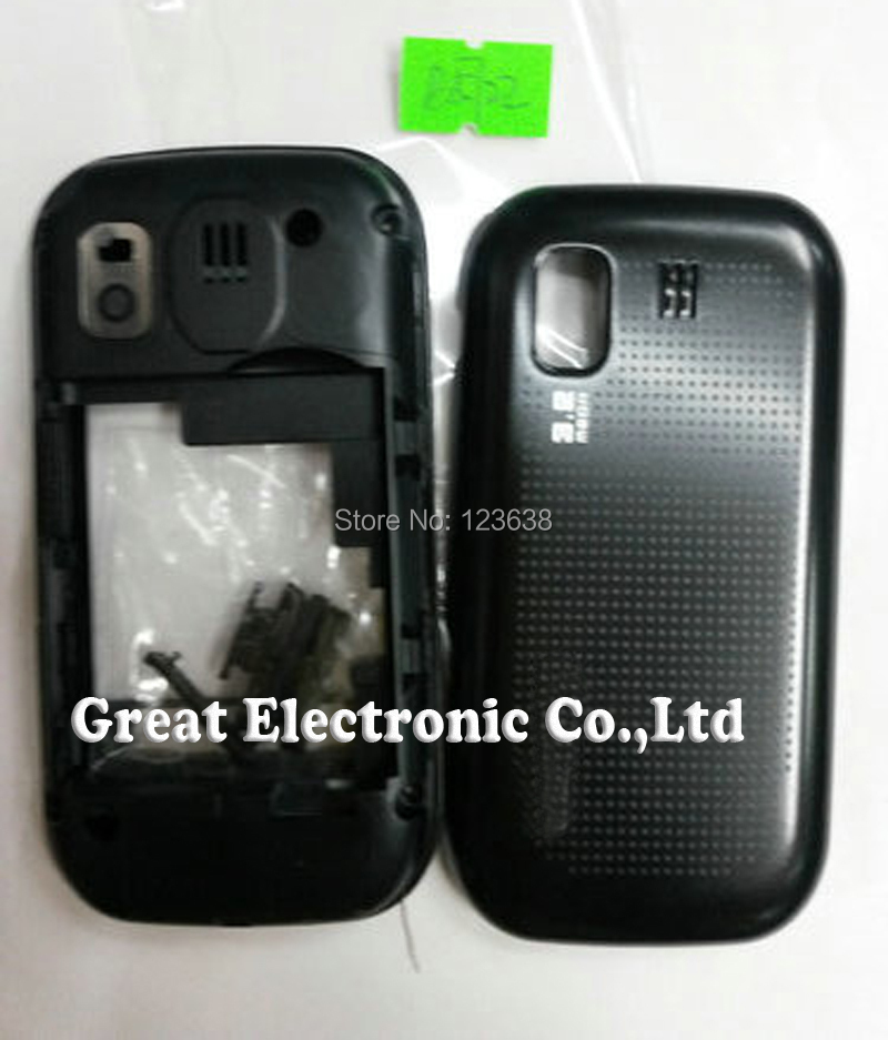 20pcs,Full faceplates cell phone housing for samsung b5722 gt-b5722 phone cover repair case panel frame+keypad+spare parts(China (Mainland))