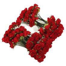 Buy Hot!144 Rouge Rose Artificielle Fleur En Papier Decoration Maison Mariage Bapteme Jardin for $1.88 in AliExpress store