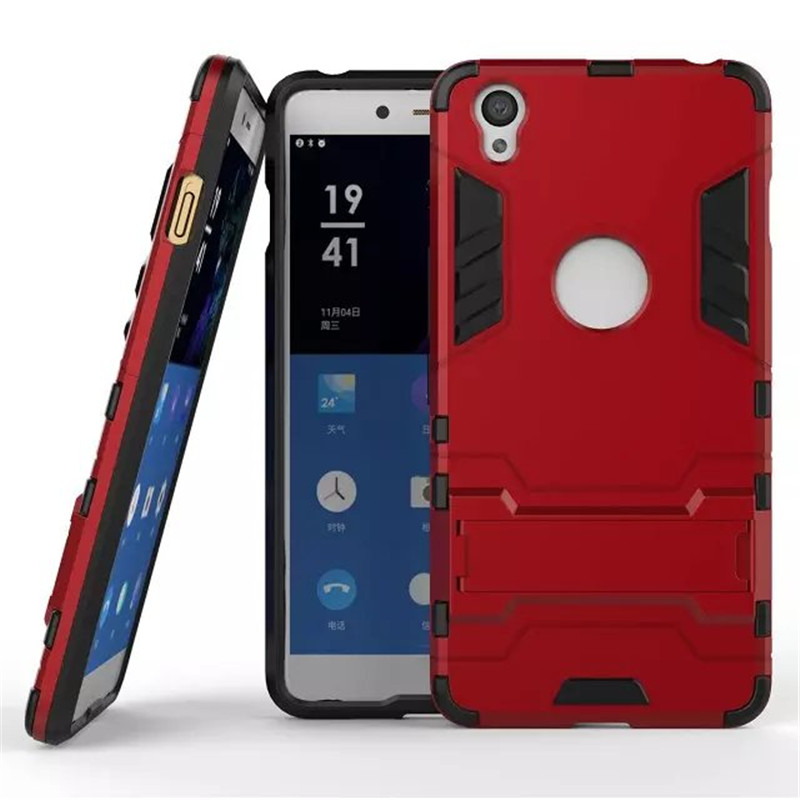 For OnePlus X Case Hybrid Kickstand 2 in1 combo Bracket Stand Case + Heavy Duty Armor Phone Back case For OnePlus X(China (Mainland))