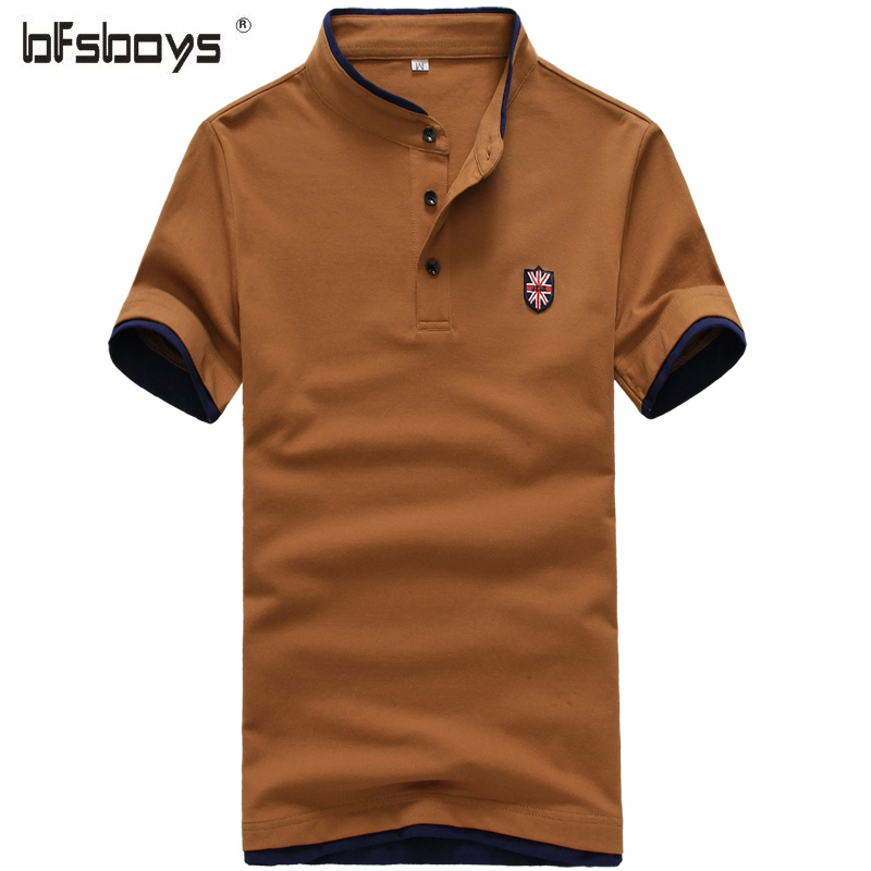 2016 new summer cotton short sleeve brand polo men for Business casual polo shirt