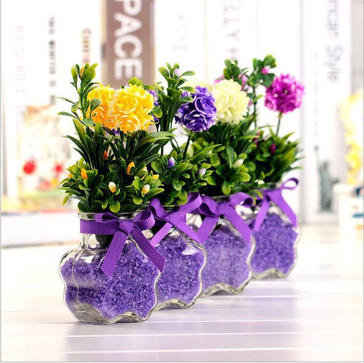 Silk flowers wedding for Artificial flower vase decoration ideas