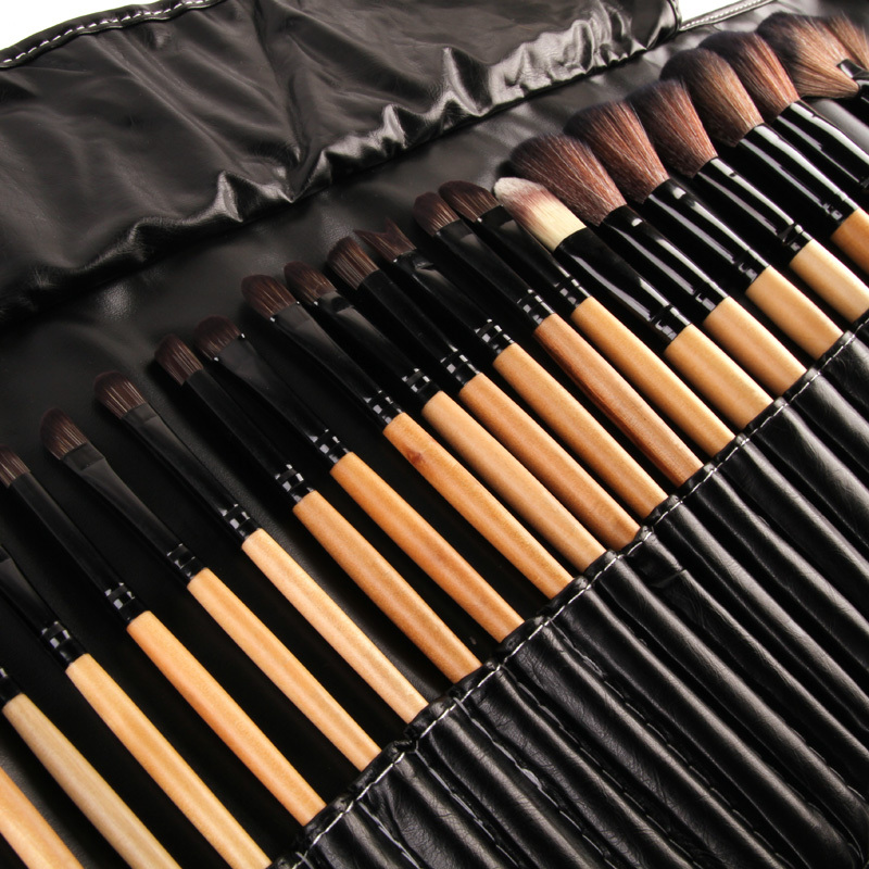 32Pcs Brand Facial Makeup Brushes Professional Cosmetic Tools Set Delineador Pincel Escova Brush Kit Roll Leather Bag Package(China (Mainland))
