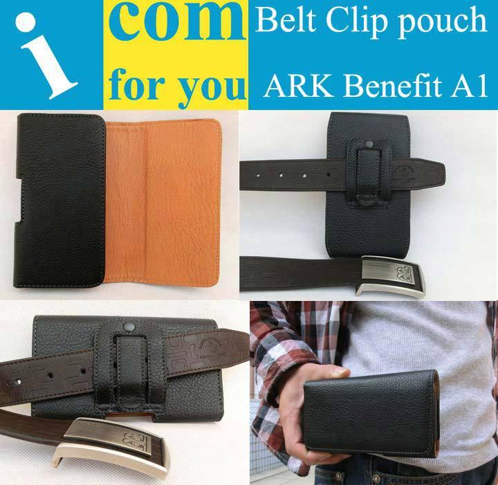 Holster Clip Belt Leather case cover for ARK Benefit A1 keneksi delta 2 Smart MTC 982O 982T 968 Smart Start Qumo Quest 406 408(China (Mainland))
