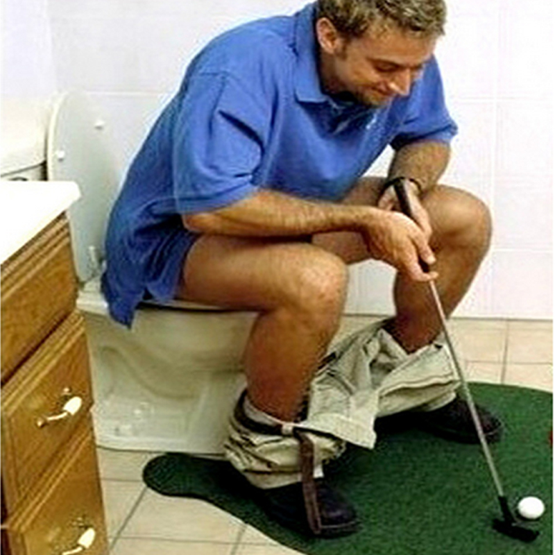 Novelty Outdoor & Indoor Potty Putter Toilet Golf Sports Game Entertainment Mini novelty Toy for men and women Sets Kids toys(China (Mainland))