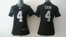 100% stitched Women Oakland Raiders ladies 4 Derek Carr 11 Sebastian Janikowski 24 Charles Woodson 34 Bo Jackson 52 Khalil Mack(China (Mainland))