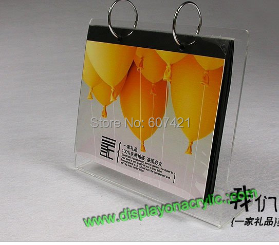 8 Inch Christmas Gifts Desk Top L Style acrylic Perspex Calendar Holder Stand<br><br>Aliexpress