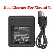 5V 2A Xiaomi yi Battery Charger USB Dual Battery Charging Dock For Xiaoyi Xiaomi yi Action Camera Accessories
