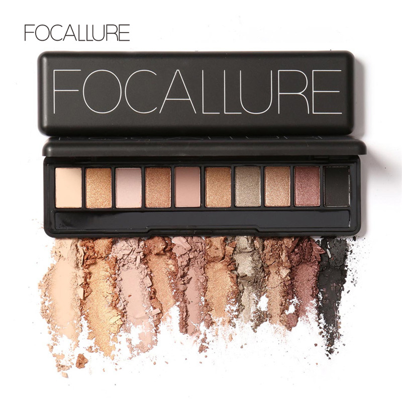 Focallure Makeup Palette Natural Makeup Eye Light Ten Colors Eye Shadow Makeup Shimmer Matte Eyeshadow Palette Set(China (Mainland))