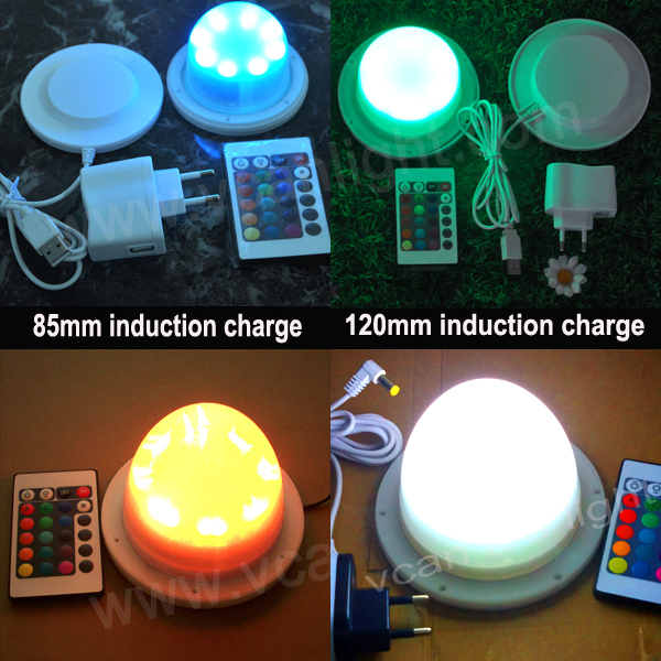 6PCS DHL Free Shipping Super Bright RGB 16 colors change Wireless Rechargeable Lithium waterproof LED tube modules(China (Mainland))