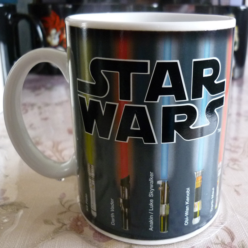 Drop shipping! Star Wars Mug Lightsaber Heat Reveal Mug color change coffee cup sensitive Ceramic Mug(China (Mainland))