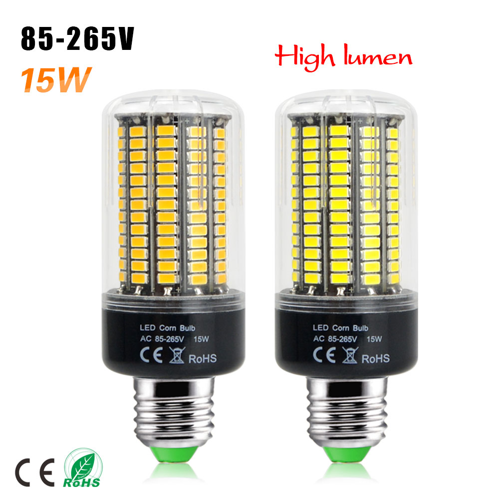 1PC No Flicker Smart IC control New 5736 SMD LED lamp 3W 5W 7W 8W 12W 15W LED Spot light E27 AC 85-265V LED Corn Bulb lighting(China (Mainland))