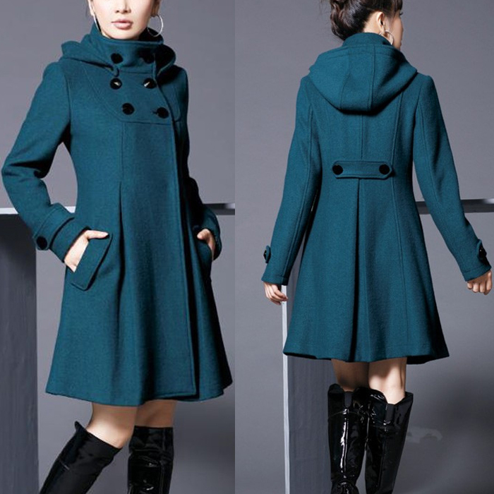 Fashion Woman Long Winter warm Coat Women coats Elegant Trench Blends for female Fashion jacket D482 New arrival(China (Mainland))