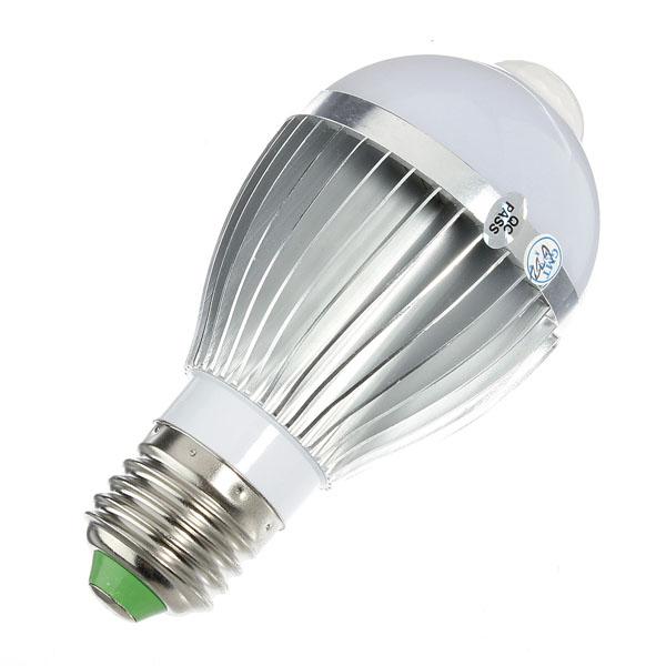 Hot Sale Big Promation High Quality E27 6.5W Auto PIR Infrared Motion Sensor Detection Pure White LED Bulb Lamp Lights 85-265V(China (Mainland))