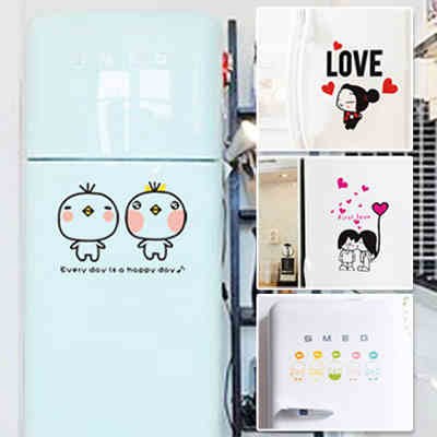 Kitchen cabinets bathroom renovation decoration stickers stickers creative fashion refrigerator Sticker Wall stickers closestool(China (Mainland))