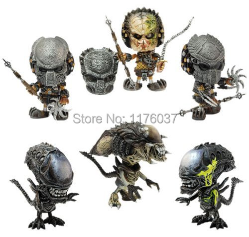 New Hot Toys Cosbaby Terror Sci-Fi Film Aliens VS Predator Mini Cute 7.5CM Action Figure Toys Original Box<br><br>Aliexpress