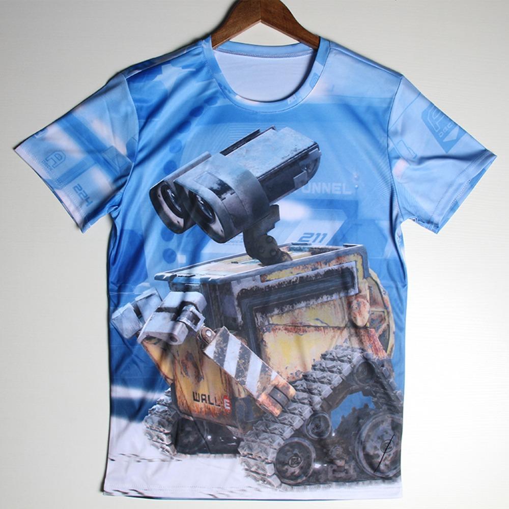 3D Madagascar T Shirts Men Angel Kayle Man T Shirt Cotton Short Sleeves Wall E Mens