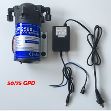 Buy Water Filter DC24v Water Booster Pump High Pressure DC24v 1.5A Transformer 50/75GPD Machine Increase RO System Pressure for $65.52 in AliExpress store