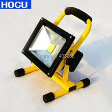 10w 20w 30w charging led flood light Rechargeable chargeable charge battery floodlight outdoor lighting IP65 Free Shipping