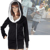 Free Shipping Korea Women Hoodies Coat Warm Zip Up Outerwear 5 Colors 34