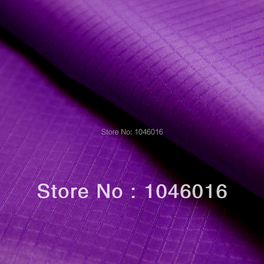 Purple 1.7Yard Wide x 1Yard long Light Coated/ Ripstop Nylon Fabric Material Waterproof/WP/Kite cloth/Outdoor/Free shipping(China (Mainland))