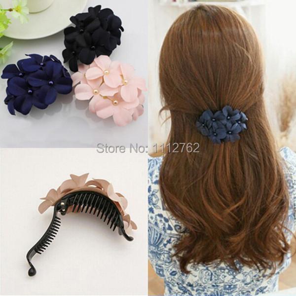 Sweet Fabric Flower Hair Clip Headwear Hair Band for Women Girl Hair Accessories fPnaT(China (Mainland))