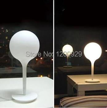 Dia20cm White Glass Ball Table Lamp Lampshade Living Room Decor Lighting Modern Bedroom Bedside,Reading Desk Lights TLL-157