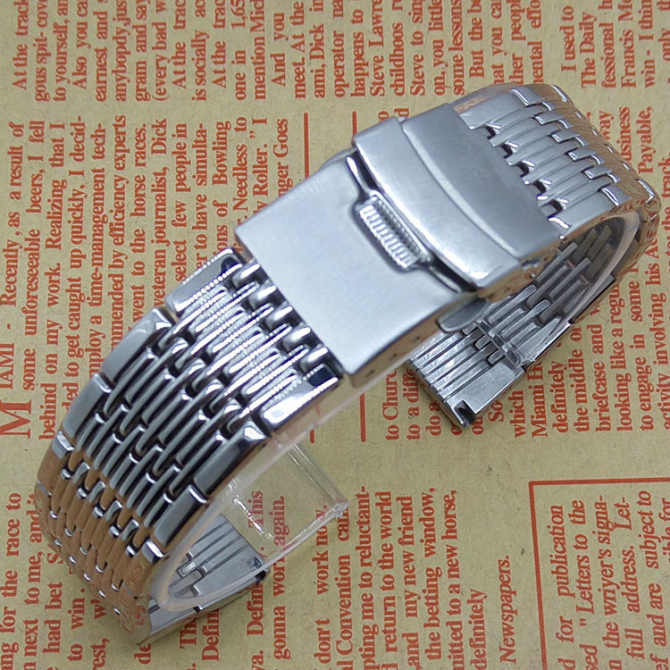 New 2015 Mens High Quality Silver 20mm Band Width Stainless Steel like Mesh  Wrist Watch Band Strap Bracelet Men Promotion <br><br>Aliexpress