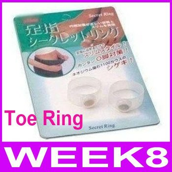 200piecs/lot Magnetic Silicon Diet Slimming Foot Massage Toe Rings 1pair=2piece By EMS