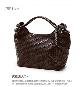 2015 New Fashion women handbags messenger bag high quality PU leather tote Korean WEAVING GRID designers Knited shoulder bags